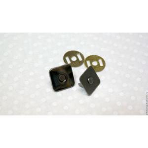 Кнопки магнитные размер 18 мм Квадратные цвет Темный