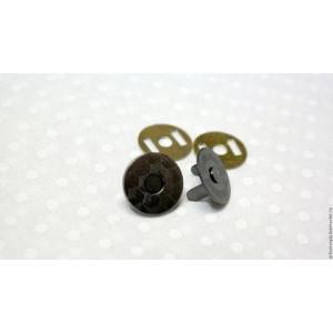 Кнопки магнитные размер 14 мм Круглая цвет  тёмный