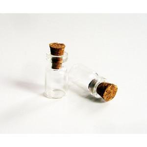 Бутылочка для миниатюр №1  размер 9*18 мм
