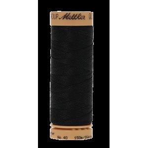 Нить для ручного квилтинга  QUILTING WAXED цвет 0003 Black  размер 150 м от Mettler
