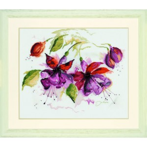 Fuchsia In Watercolor LANARTE