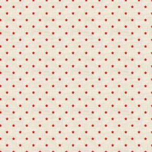 Ткань Scandi Basics Mini Star Red Makower