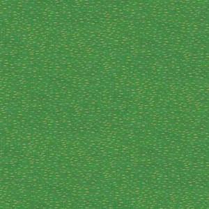 Ткань Traditional Metallic Christmas Dash Green Makower UK
