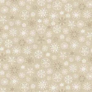 Ткань Traditional Metallic Christmas Snowflakes Gold Makower UK
