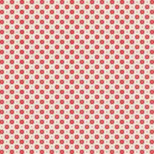Ткань Scandi Basics Nordic Snowflake Red-2, Makower