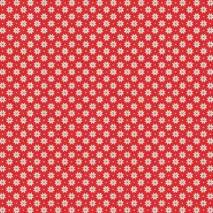 Ткань Scandi Basics Nordic Snowflake Red Makower
