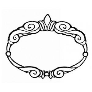 Штамп резиновый на деревянной основе Cornicetta от Stamperia