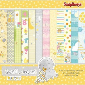 Набор бумаги для скрапбукинга 15х15 см  коллекция Веселое Детство от Scrapberrys