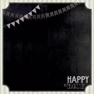 Двусторонняя бумага 30 * 30 Happy Day от My Mind's Eye