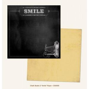 Двусторонняя бумага 30 * 30 Smile от My Mind's Eye