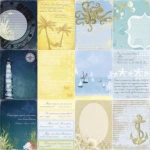 Двусторонняя бумага 30 * 30 Легенды о море  от ScrapBerry's