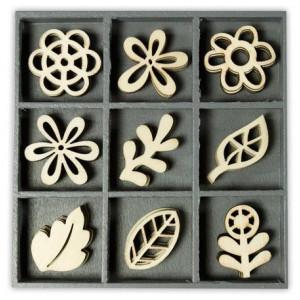 Набор деревянных украшений Флористические фантазии, Knorr Prandell