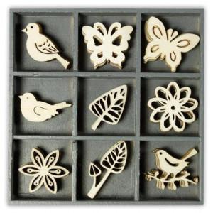 Набор деревянных украшений в коробочке  Флора и фауна от Knorr Prandell