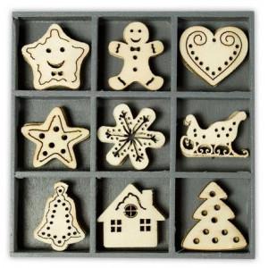 Набор деревянных украшений Рождественские сладости, Knorr Prandell