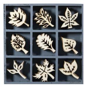 Набор деревянных украшений в коробочке  Листья от Knorr Prandell