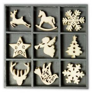 Набор деревянных украшений в коробочке  Рождественские элементы от Knorr Prandell
