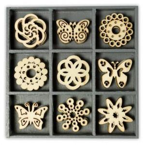 Набор деревянных украшений в коробочке Бабочки от Knorr Prandell