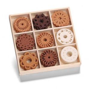 Набор украшений из войлока в коробочке Фантазийные круги от Knorr Prandell