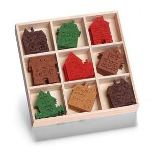 Набор украшений из войлока в коробочке Домики от Knorr Prandell