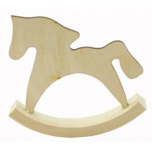 Заготовка для декупажа Лошадка Качалка Маленькая от Woodbox