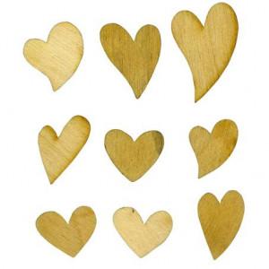Набор декоративных элементы  Сердечки от Woodbox
