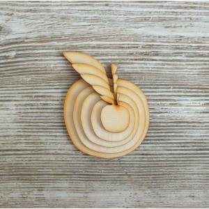 Набор декоративных элементы  Яблочки от Woodbox