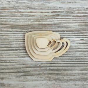 Набор декоративных элементы Чашечки от Woodbox
