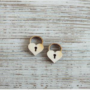 Декоративный элемент  Сердечко Замочек от Woodbox