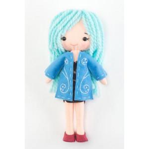 Набор для шитья игрушки Девочка в синем пальто от Тутти