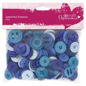 Набор пуговиц Blue Assorted Docrafts