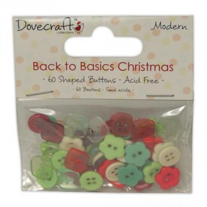 Набор пуговиц Back to Basics Christmas Modern от Dovecraft