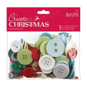 Набор пуговиц Traditional Christmas от Docrafts