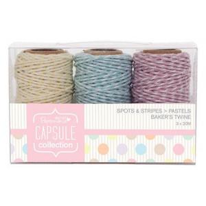Набор шнуров декоративных Pastels Spots & Stripes от Docrafts