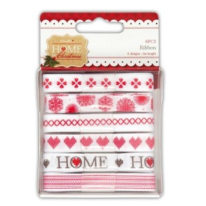 Набор лент Home For Christmas от  Docrafts