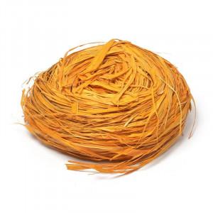 Рафия натуральная цвет Оранжевый