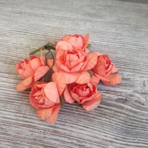 Букет розочек цвет Абрикосовый размер 4 см.