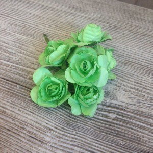 Букет розочек цвет Салатовый размер 4 см.