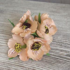 Букет цветов Мак цвет Крем-Карамель