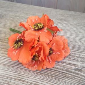Букет цветов Мак цвет Абрикосовый