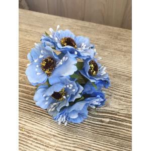 Букет цветов Мак цвет Небесный голубой