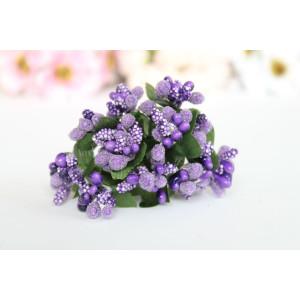 Декоративный букетик из тычинок цвет Фиолетовый