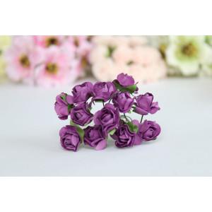 Букет кудрявых роз цвет Фиолетовый размер 1,5 см.
