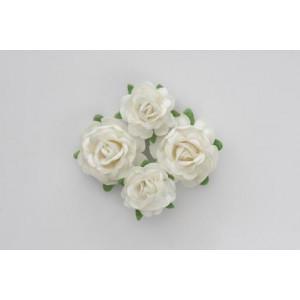 Цветы чайной розы цвет Белые  размером 4 см  и 3 см от ScrapBerry's