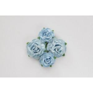 Цветы чайной розы цвет  Голубые  размером 4 см  и 3 см от ScrapBerry's