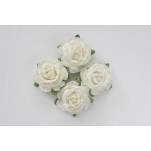Цветы чайной розы цвет Белые  размером 4 см от ScrapBerry's