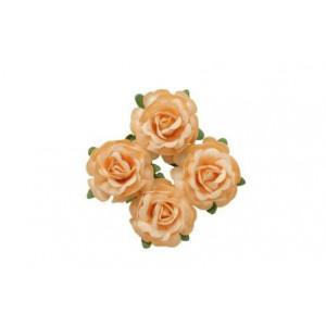 Цветы чайной розы цвет Бежевый  размером 4 см от ScrapBerry's