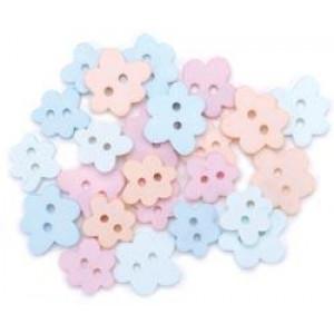 Набор пуговиц Pastel Flowers от Favorite Findings