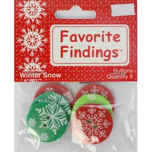 Набор пуговиц Winter Snow от Favorite Findings