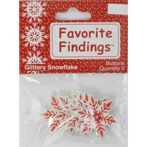 Набор пуговиц Glittery Snowflake от Favorite Findings