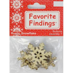 Набор пуговиц Rustic Snowflake от Favorite Findings